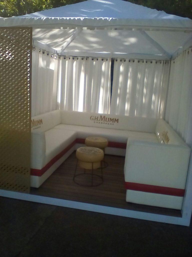 Marine vinyl seating area