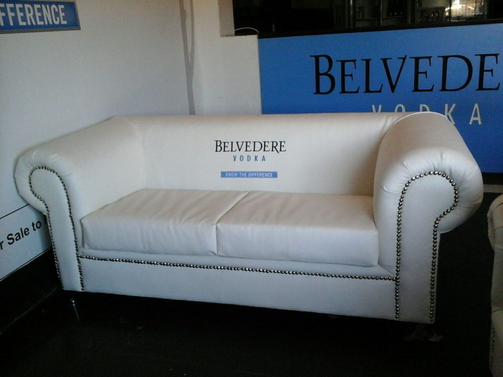 Marine vinyl couch